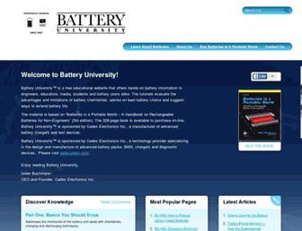 Thumbshot of Batteryuniversity.com