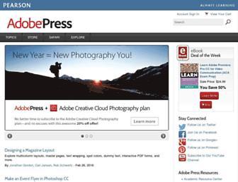 adobepress.com screenshot