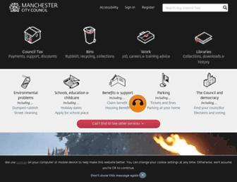 secure.manchester.gov.uk screenshot