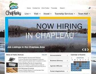 Main page screenshot of chapleau.ca