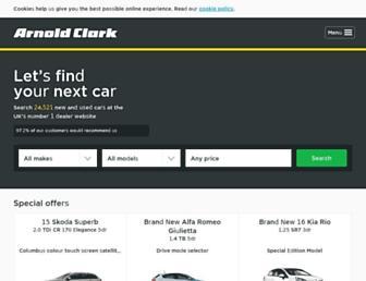 arnoldclark.com screenshot