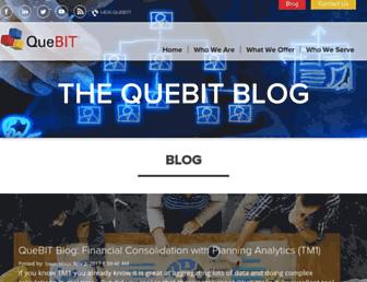 blog.quebit.com screenshot