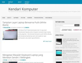 kendarikomputer.blogspot.com screenshot