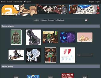 Main page screenshot of furaffinity.net