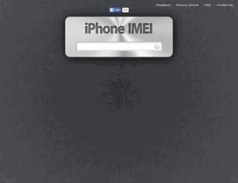iphoneimei.info screenshot