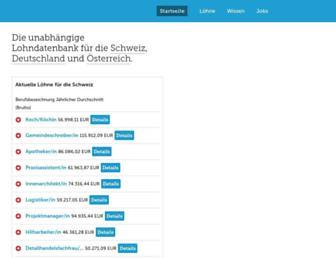 lohnanalyse.ch screenshot