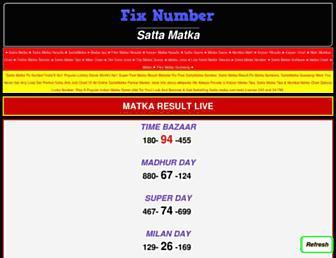 sattamatkafixnumber.com screenshot