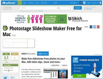photostageslideshowmakerfreeformac.en.softonic.com screenshot