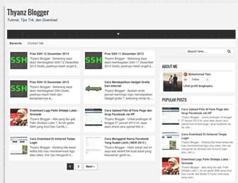 thyanz-blogger.blogspot.com screenshot