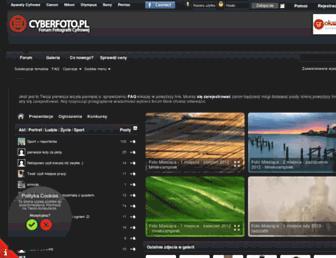Main page screenshot of cyberfoto.pl