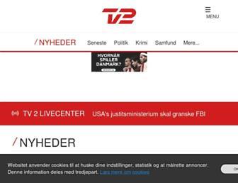 nyheder.tv2.dk screenshot