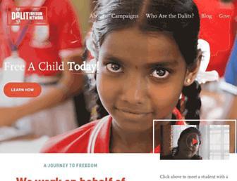 Main page screenshot of dalitnetwork.org