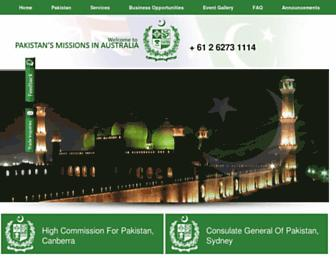 pakistan.org.au screenshot