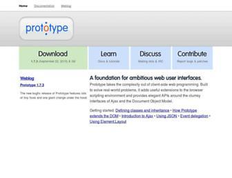 Thumbshot of Prototypejs.org