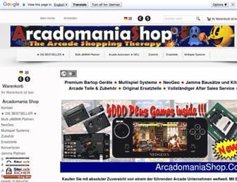 arcadomaniashop.com screenshot