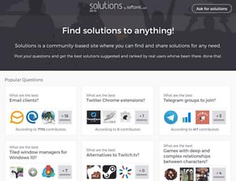 solutions.softonic.com screenshot
