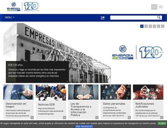 Main page screenshot of eeb.com.co
