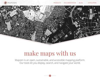 mapzen.com screenshot