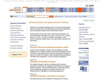 Main page screenshot of eduserver.de
