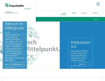 Main page screenshot of fraunhofer.de