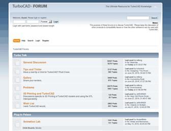 forums.turbocad.com screenshot