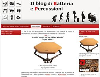 Main page screenshot of musicaebatteria.it