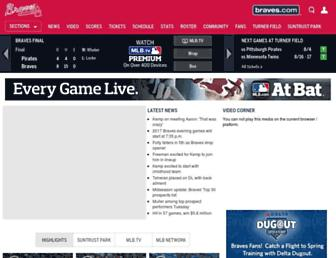 atlanta.braves.mlb.com screenshot