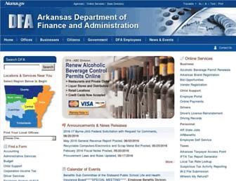 dfa.arkansas.gov screenshot