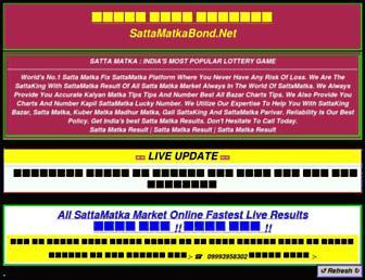 sattamatkabond.net screenshot