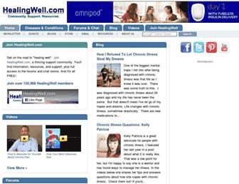 Thumbshot of Healingwell.com