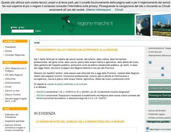 Main page screenshot of portale.regione.marche.it