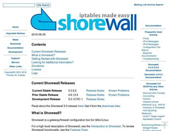 Thumbshot of Shorewall.net