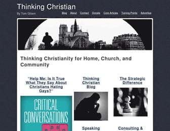 Main page screenshot of thinkingchristian.net