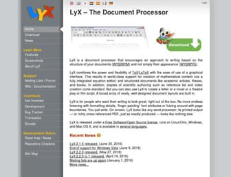 Thumbshot of Lyx.org