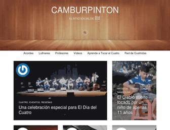 Main page screenshot of camburpinton.org