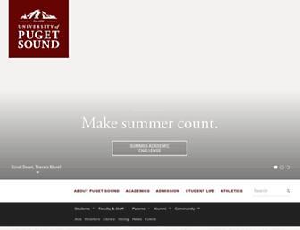 Main page screenshot of ups.edu