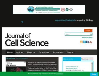 jcs.biologists.org screenshot