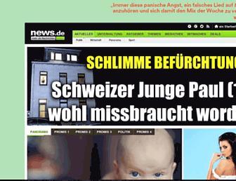 Main page screenshot of news.de