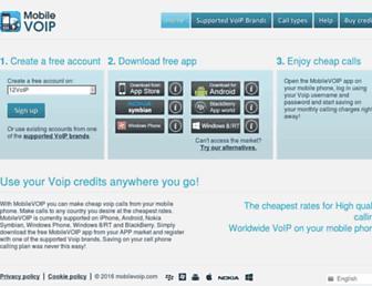 mobilevoip.com screenshot