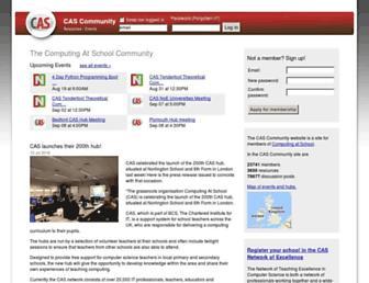 community.computingatschool.org.uk screenshot
