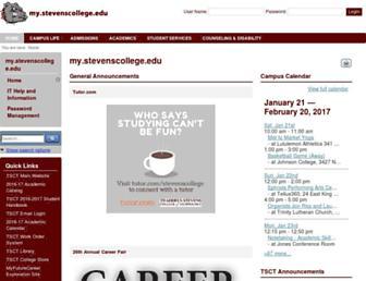 my.stevenscollege.edu screenshot