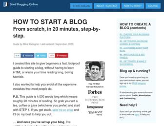 startbloggingonline.com screenshot