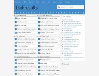 quikresults.com screenshot