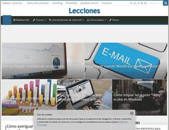 lecciones.batiburrillo.net screenshot