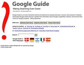 Thumbshot of Googleguide.com