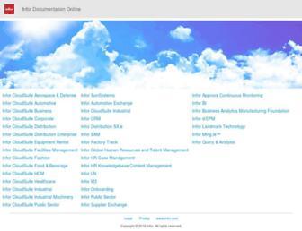 docs.infor.com screenshot
