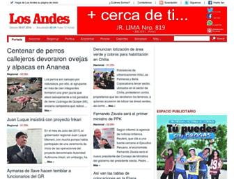 losandes.com.pe screenshot
