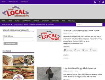 Main page screenshot of monroelocal.org