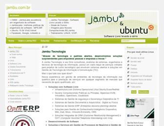Main page screenshot of jambu.com.br
