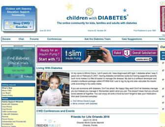 Thumbshot of Childrenwithdiabetes.com